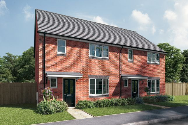 "Thumbnail Semi-detached house for sale in ""The Berkeley"" at Station Approach, Westbury"