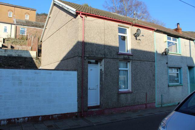 Thumbnail End terrace house to rent in Long Row, Blaenllechau