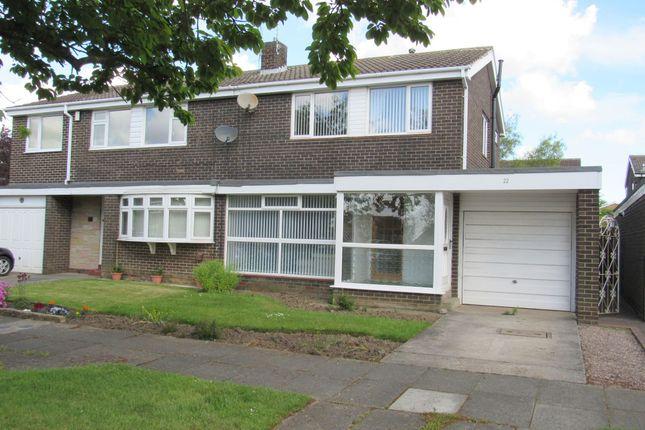 Thumbnail Semi-detached house for sale in Cramond Way, Cramlington