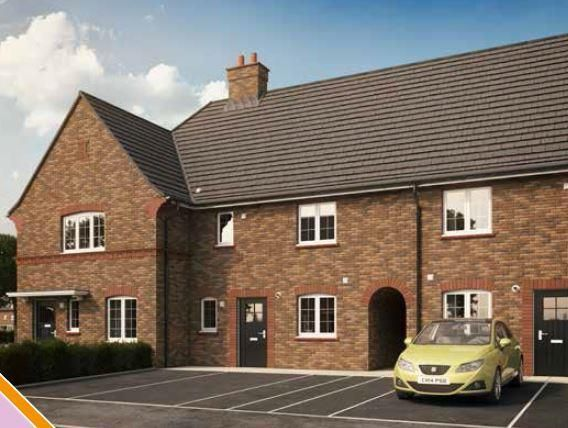 Thumbnail Terraced house for sale in Plot 234 Cranfield, Hansons Reach, Stewartby, Bedford