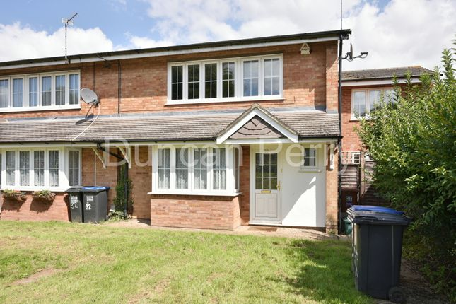 Thumbnail End terrace house for sale in Greville Close, Welham Green, Herts