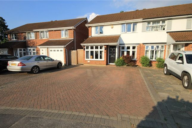 Thumbnail Semi-detached house for sale in Tyler Gardens, Addlestone, Surrey