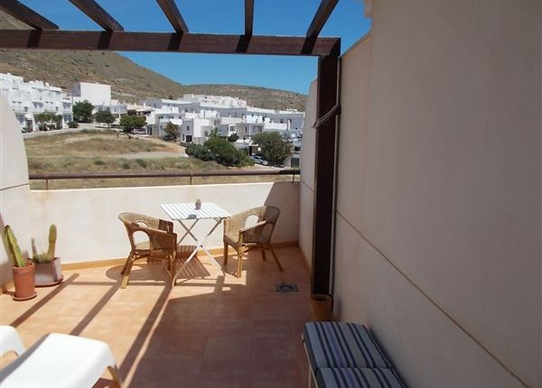 Terrace of C/ Joaquin Sabina, Carboneras, Almería, Andalusia, Spain