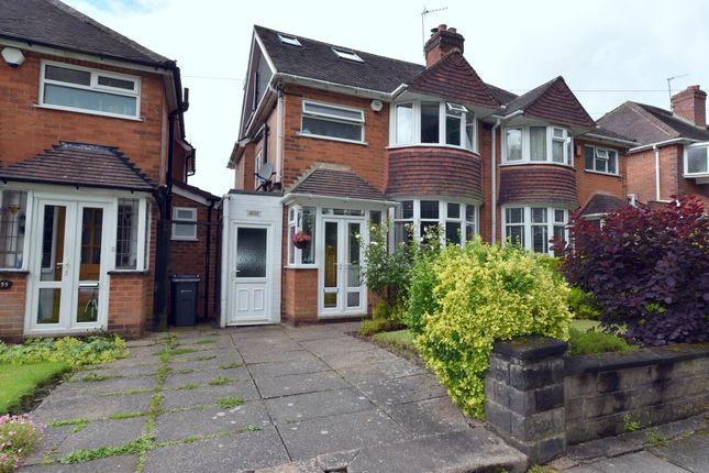 Thumbnail Semi-detached house for sale in Queens Park Road, Harborne, Birmingham