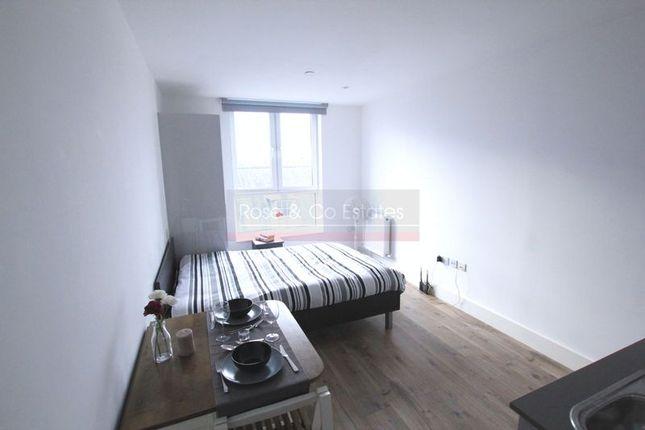 Thumbnail Studio to rent in The Luminaire Apartments, Kilburn High Road, London