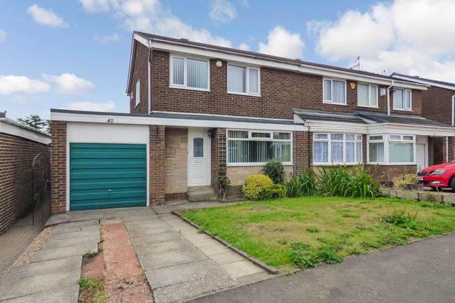 Thumbnail Semi-detached house for sale in Northolt Avenue, Cramlington