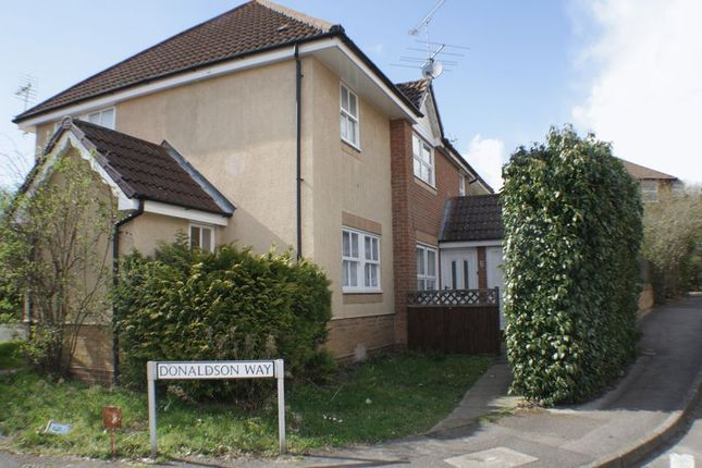 Thumbnail Terraced house to rent in Donaldson Way, Woodley, Reading