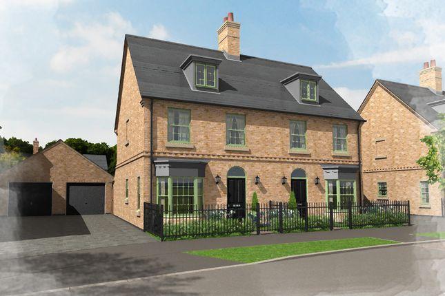 Thumbnail Semi-detached house for sale in Plot 1, Central Avenue, Brampton Park, Brampton, Huntingdon