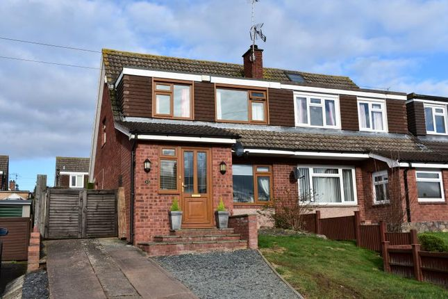 Thumbnail Semi-detached house for sale in Queen's Down, Creech St Michael, Taunton, Somerset