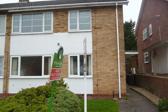Thumbnail Flat to rent in Burnside Way, Longbridge, Northfield, Birmingham
