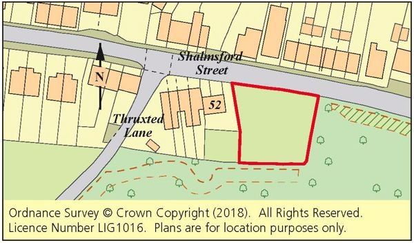Thumbnail Land for sale in Land Adj. 52 Shalmsford Street, Chartham, Canterbury, Kent