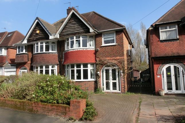 Thumbnail Semi-detached house for sale in Studland Road, Hall Green, Birmingham