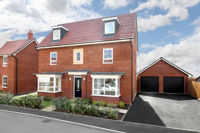 "Thumbnail Detached house for sale in ""Warwick"" at Gold Furlong, Marston Moretaine, Bedford"