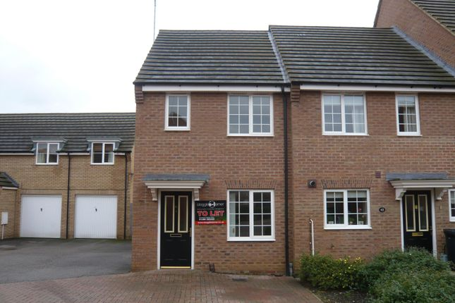 Thumbnail End terrace house to rent in Coriander Road, Downham Market