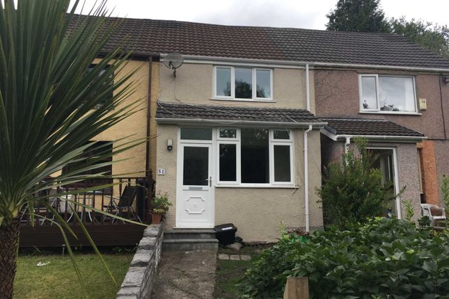Thumbnail Semi-detached house to rent in Ynysmeudwy Road, Pontardawe, Swansea