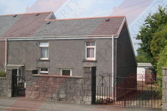 Thumbnail End terrace house to rent in Swansea Road, Waunarlwydd, Swansea
