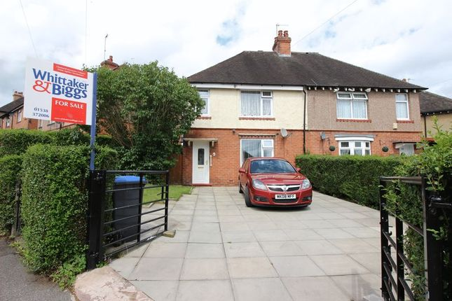 Thumbnail Semi-detached house for sale in Burton Street, Leek, Staffordshire