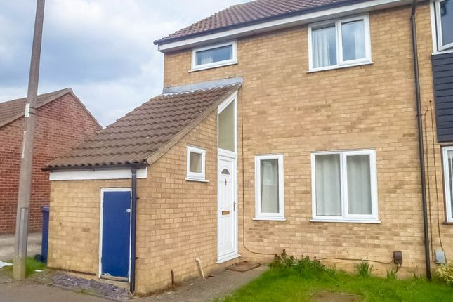 Thumbnail End terrace house to rent in Ouse Road, St. Ives, Huntingdon