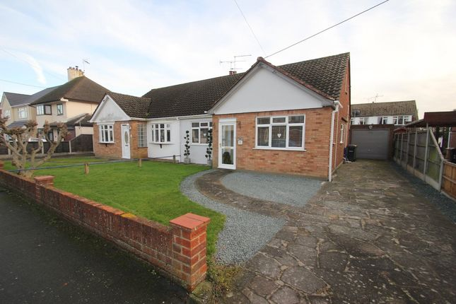 Thumbnail Semi-detached bungalow for sale in Central Avenue, Ashingdon, Rochford