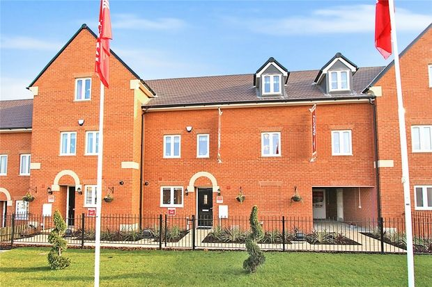 Thumbnail Town house for sale in The Tempest At Chiswell Place, Beauvais Avenue, New Cardington, Bedfordshire