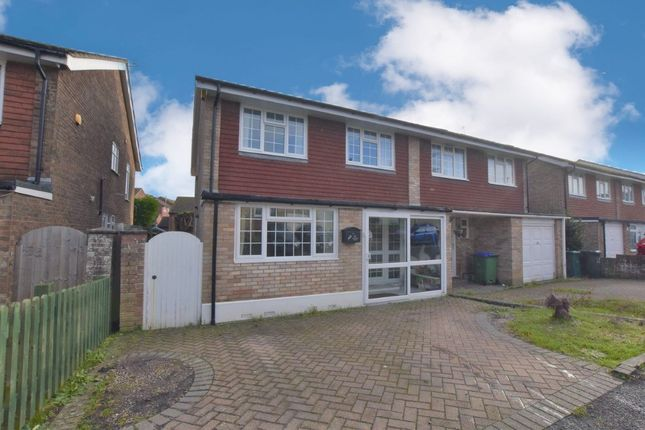 Thumbnail Semi-detached bungalow for sale in Carey Down, Telscombe Cliffs