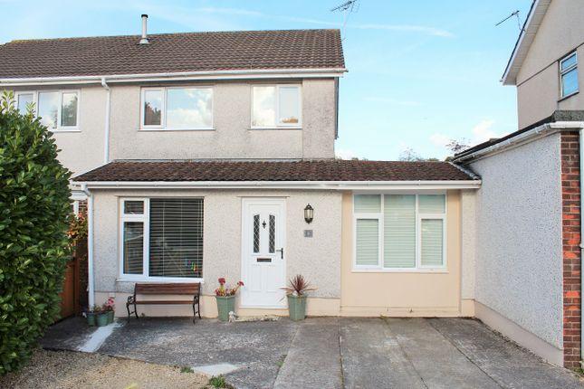 Thumbnail Semi-detached house for sale in Clos Melin Mynach, Garden Village, Swansea