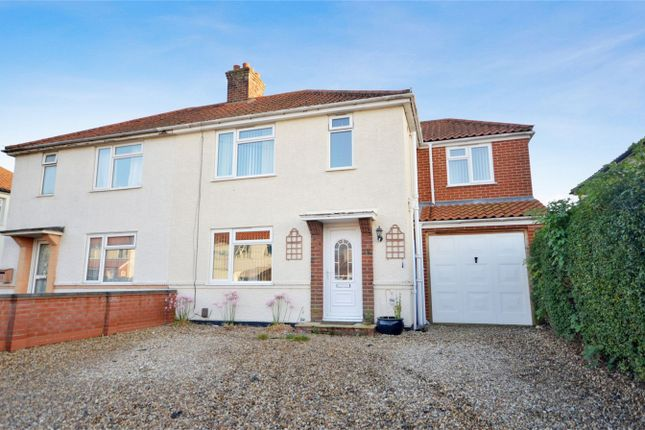 Thumbnail Semi-detached house for sale in Harlington Avenue, Hellesdon, Norwich