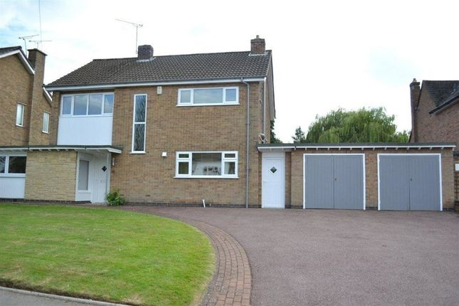 Thumbnail Detached house to rent in St Andrews Drive, Oadby, Leicester