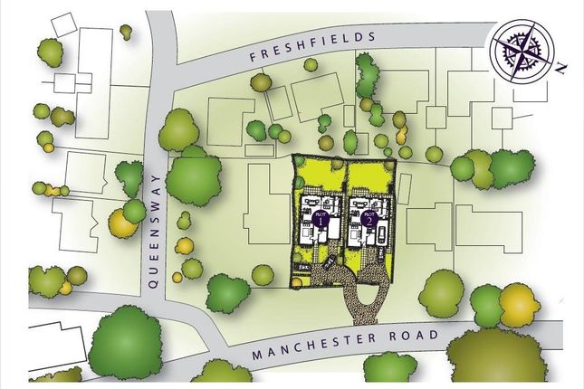 Site Plan of Manchester Road, Knutsford WA16