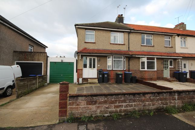 Thumbnail End terrace house to rent in Orchard Avenue, Lancing
