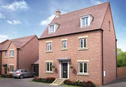 """Thumbnail Town house for sale in """"The Knebworth"""" at Darrall Road, Lawley Village, Telford"""