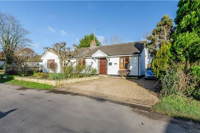 Thumbnail Detached bungalow for sale in Foremans Road, Thriplow, Hertfordshire