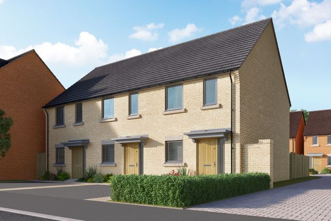 "Thumbnail Semi-detached house for sale in ""The Ashley"" at Heron Road, Northstowe, Cambridge"