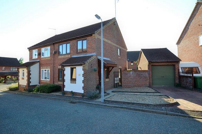 Thumbnail Semi-detached house for sale in Paddock Close, Fakenham, Norfolk.