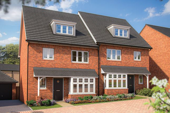 "Thumbnail Semi-detached house for sale in ""The Willow"" at Irthlingborough Road, Wellingborough"