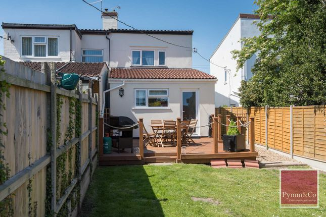 Thumbnail Semi-detached house for sale in Norwich Road, New Costessey, Norwich