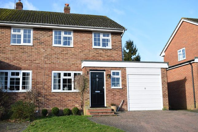 Thumbnail Semi-detached house for sale in Harwood Rise, Woolton Hill, Newbury