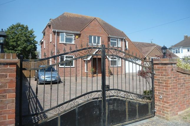Thumbnail 5 bed detached house to rent in Ferringham Lane, Ferring, Worthing