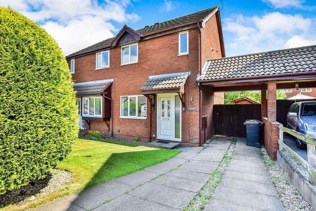 Thumbnail 3 bedroom semi-detached house to rent in Peveril Gardens, Newtown, Disley, Stockport