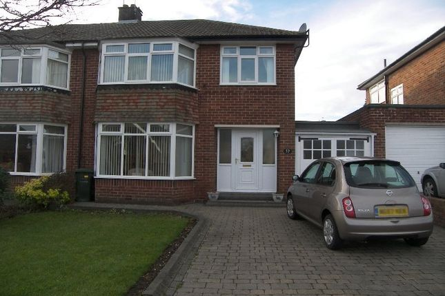 Thumbnail Semi-detached house to rent in Briardene Crescent, Gosforth