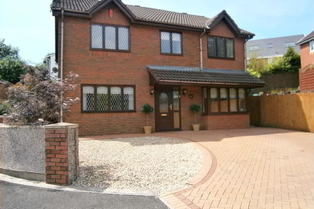 Thumbnail Detached house for sale in Gellideg Close, Maesycwmmer, Caerphilly