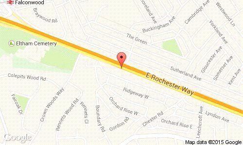 Location Map of East Rochester Way, Blackfen, Sidcup DA15