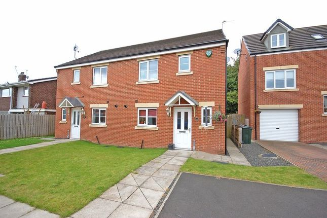 Thumbnail Semi-detached house for sale in Mead Court, Forest Hall, Newcastle Upon Tyne