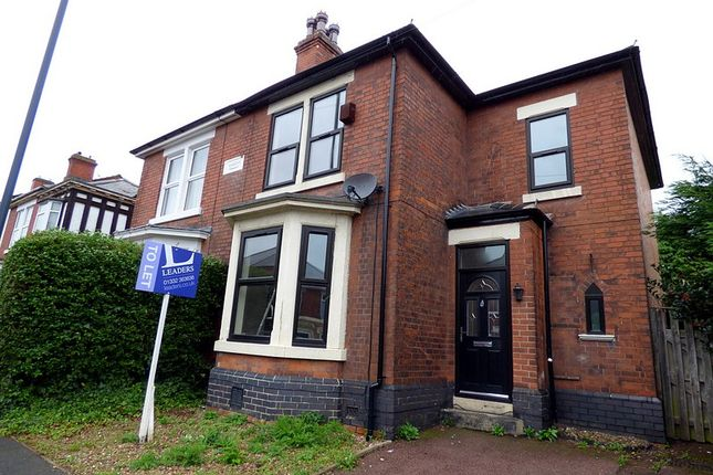 Thumbnail 3 bed semi-detached house to rent in Carlton Road, New Normanton, Derby
