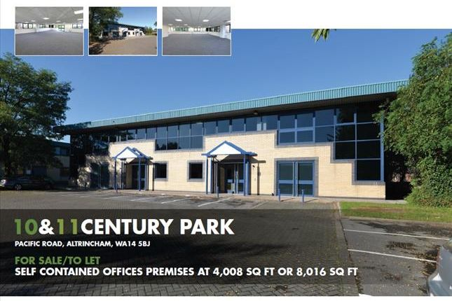 Thumbnail Office for sale in Century Park, Unit 10 & 11, Atlantic Street, Altrincham