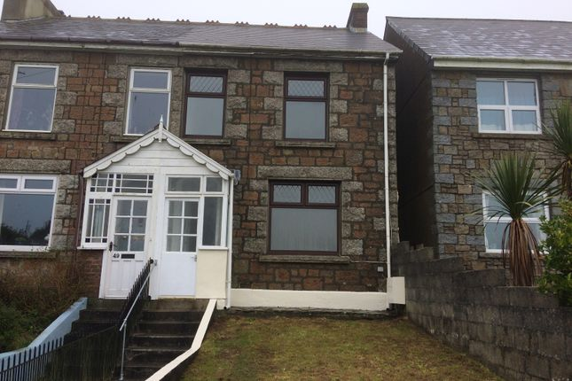 Thumbnail Semi-detached house to rent in Cadogan Road, Camborne