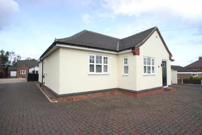 Thumbnail Detached bungalow to rent in Burton Road, Woodville, Swadlincote