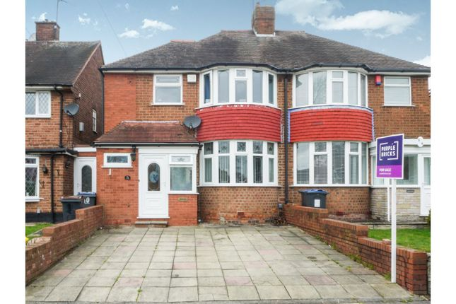 Thumbnail Semi-detached house for sale in Wensley Road, Birmingham