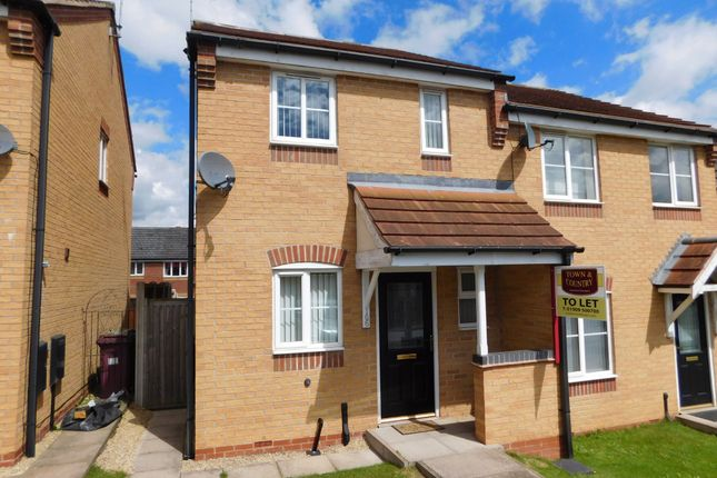 Thumbnail Semi-detached house to rent in Bracken Road, Shirebrook, Mansfield