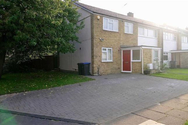 Thumbnail End terrace house to rent in Spencers Croft, Harlow, Essex